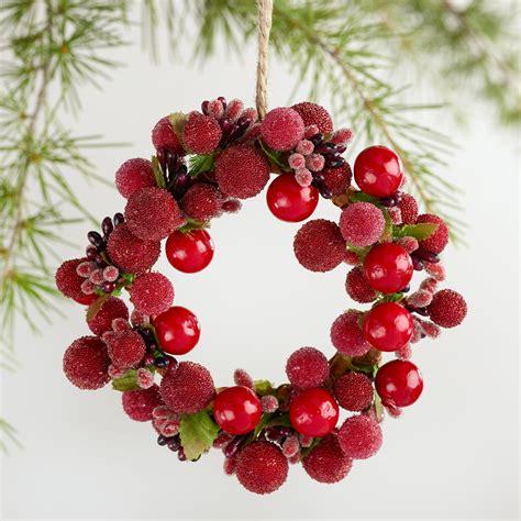 red berry wreath ornament world market
