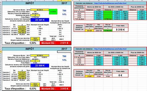 Calcul Des Frais Réels 5364 comment calculer imp 244 t sur le revenu avec excel