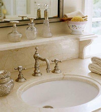 Decorative shelf for above bathroom sink