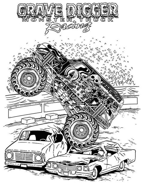 grave digger monster truck coloring pages monster truck grave digger monster truck coloring page
