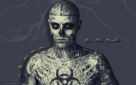 download wallpaper lightning eyes tattoo man skeleton