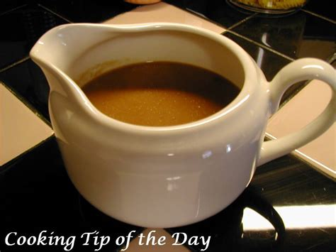 cooking tip of the day recipe brown gravy