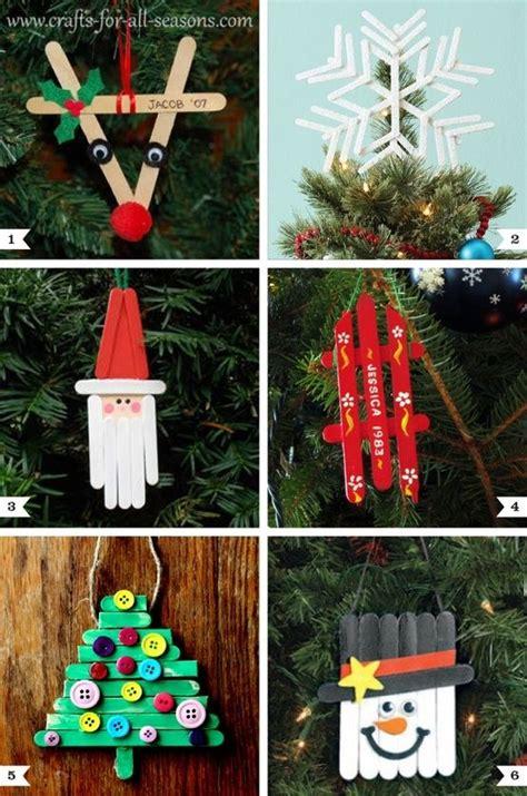 fun  easy kids christmas crafts craft sticks
