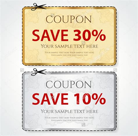free coupon design templates sle coupon template 43 documents in psd vector