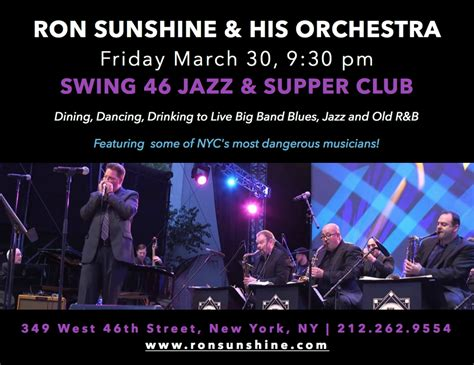 swing 46 jazz and supper club upcoming events his orchestra at swing 46