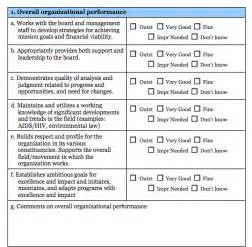 Toolkit executive director evaluation survey common good vermont