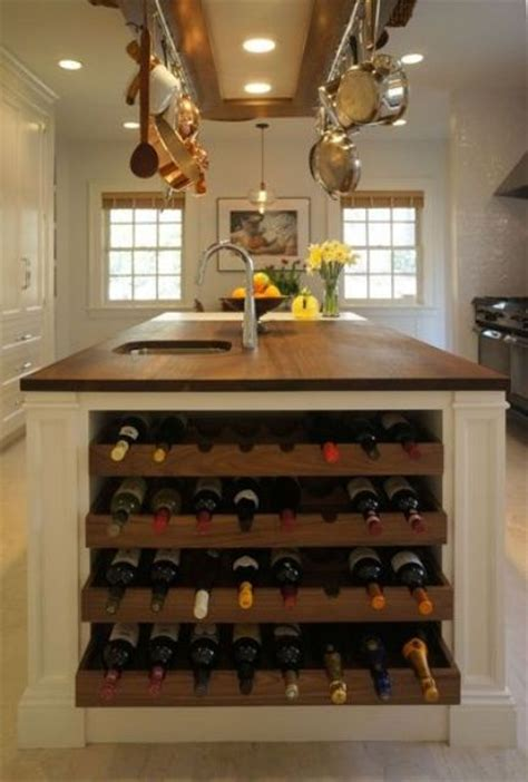 kitchen island with wine rack 26 wine storage ideas for those who don t have a cellar
