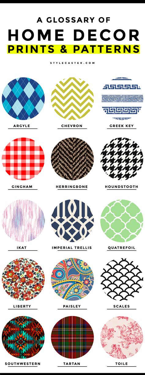pattern fabric names common home decor prints and patterns a complete glossary