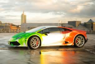 lamborghini huracan wrapped in tricolor flames by print tech gtspirit