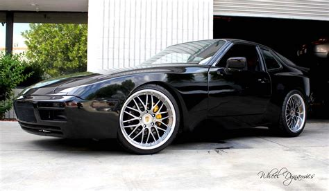 porsche 944 black pentera mesh 19 quot wheels 3 5 quot lip hyper black on black 951