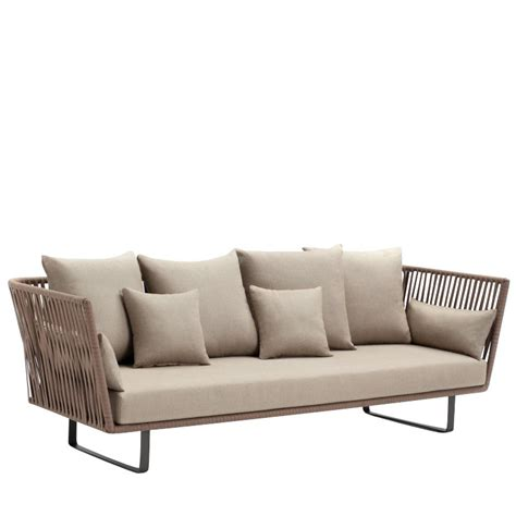 3 Seater Outdoor Sofa by Bitta 3 Seater Outdoor Sofa Kettal Ambientedirect