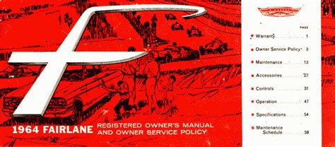 free online auto service manuals 1966 ford fairlane free book repair manuals directory index ford 1964 ford 1964 ford fairlane owners manual