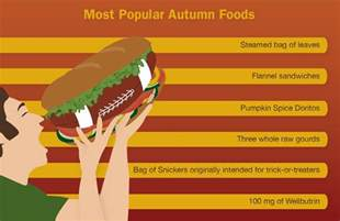 most popular most popular autumn foods the onion america s finest news source
