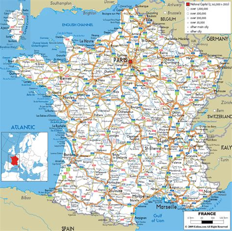 printable road map western europe detailed clear large road map of france ezilon maps