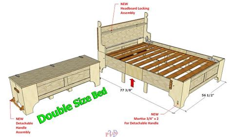 bed in the box original double folding bed 099 3d woodworking plans