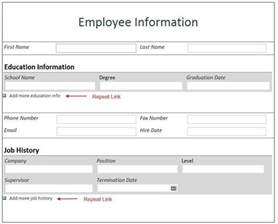 Employee Information Form Template by Free Employee Information Form Template Best Template