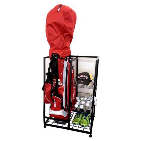 jj international single golf bag organizer storage racks