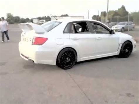 white subaru black rims black teamdynamics wheels on subaru sti xi white pearl