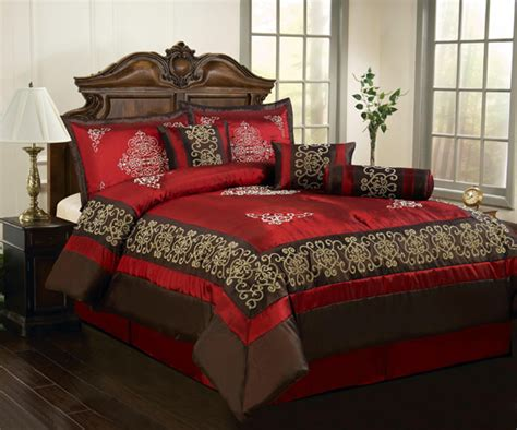red and brown comforter set chic home 7 piece comforter sets