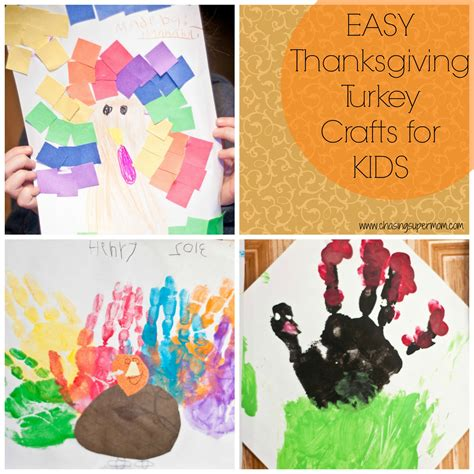 easy turkey crafts for simple thanksgiving turkey crafts for chasing supermom
