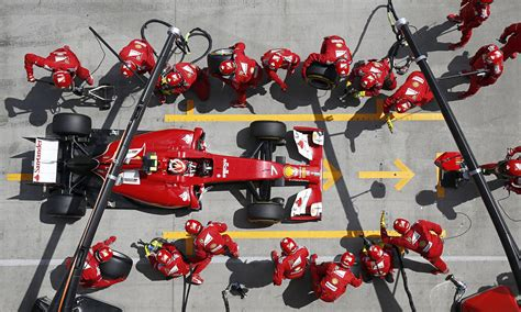 Pit Stop by The High Speed Choreography Of Formula One Pit Stops Could