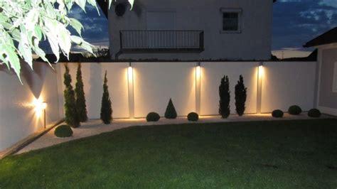 beleuchtung vorgarten sichtschutz mit standardabdeckung und beleuchtung bei