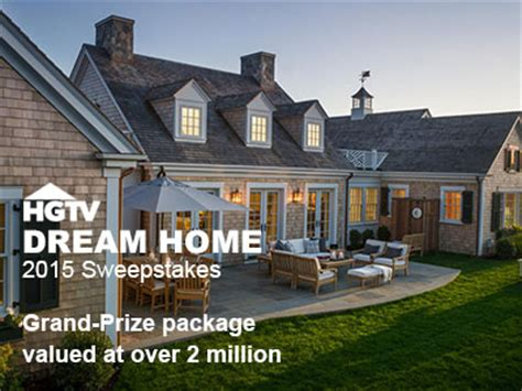 Grand Prize Sweepstakes - www hgtv com design hgtv dream home sweepstakes enter win a grand prize package