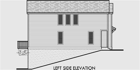 House Plans For Sloping Lots In The Rear by Duplex House Plans Rear Garage House Plans D 518