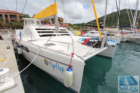 catamaran boat flips flip flop crewed catamaran charter us virgin islands