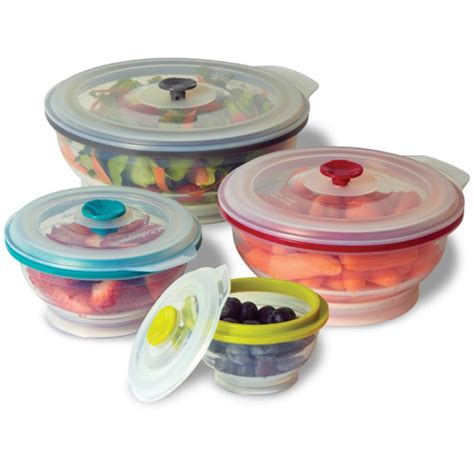 food storage containers collapse it silicone food storage containers