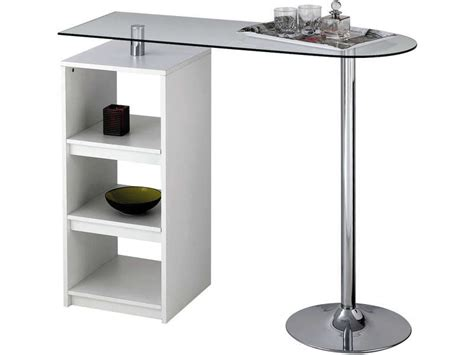 Table De Bar Cuisine by Table De Bar Youen Coloris Blanc Vente De Table De