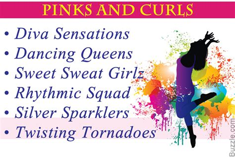 dance themes names dance group names for girls that are all shades of awesome