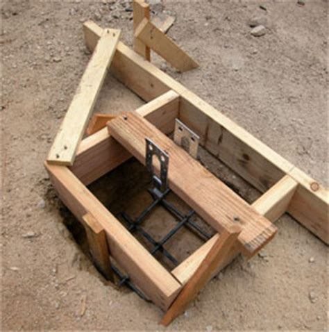 How To Build An Inexpensive Home by How To Pour Concrete Footings Amp Piers