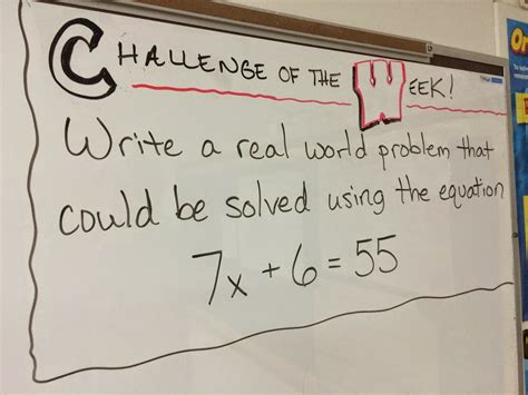 algebraic expressions word problems 6th grade middle