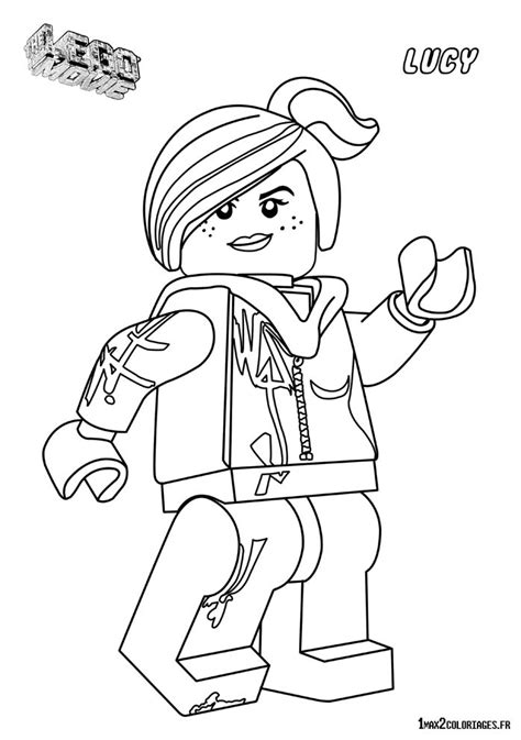 Coloriage Personnage Lego Le Film Lucy Cool Tag 224 Imprimer Emmet Coloring Pages