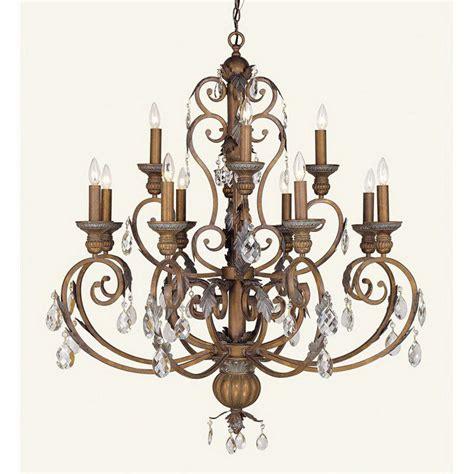 12 Light Chandelier Bronze shop livex lighting iron 12 light crackled bronze chandelier at lowes