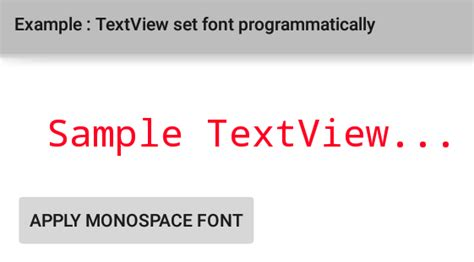 android set layout weight programmatically textview how to change textview font and font family in android