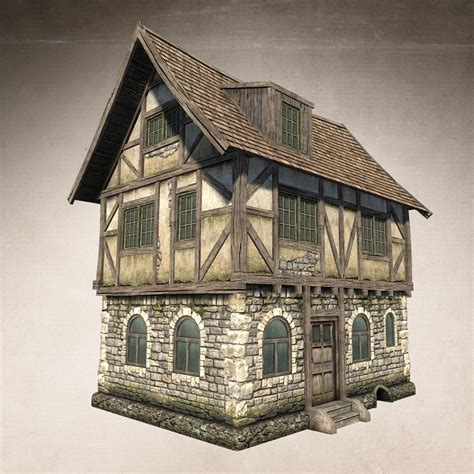 fantasy houses fantasy medieval house 3d max