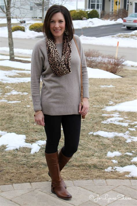 age 40 cute fashion day 26 of 28 winter outfits brown woman and black
