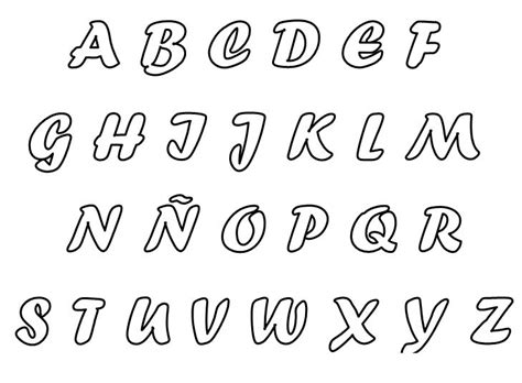 moldes de letras del abecedario para carteleras molde de letras cursiva letras pinterest moldes de
