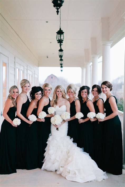 Wedding Black And White by Black Is Back Black Bridesmaids Dresses Easy Weddings