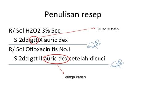 Obat Tetes Telinga Tarivid Ofloxacin tentir menulis resep fkui2007