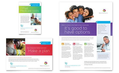 medical insurance flyer amp ad template design