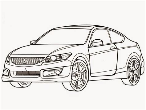 coloring pages honda cars honda accord car coloring pages realistic coloring pages