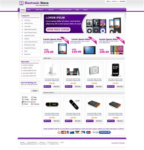 ecommerce templates ecommerce template by samirbitt16 on deviantart