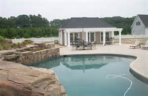 pool house layout ideas plans bathroom big triangular shaped from the width and length
