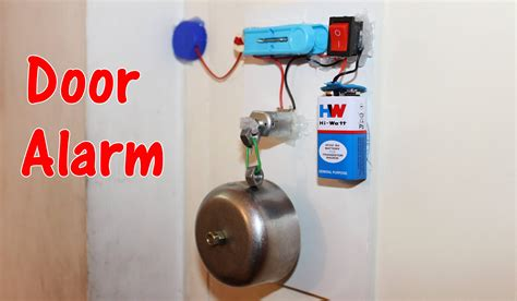 how to make a door alarm theft alert alarm