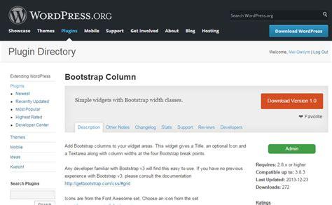 column layout wordpress plugin a wordpress bootstrap plugin bootstrap column widget