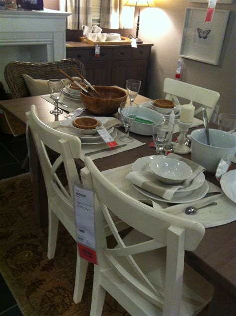 Ikea Stornas Bar Table Ikea Stornas Table In Grey Brown Songe Mirror Ingolf Chairs In White Wicker Chairs At The