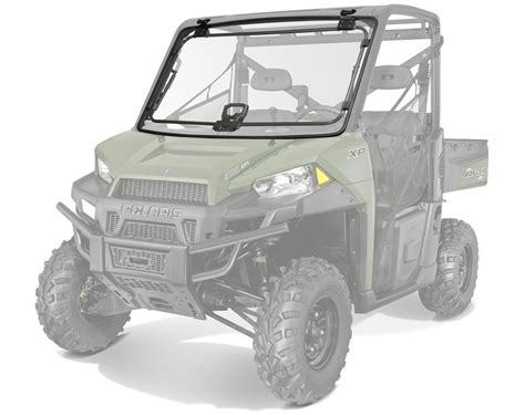 lock ride 174 pro fit tip out poly windshield polaris ranger